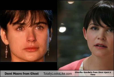 hair demi moore totally looks like Ginnifer Goodwin funny