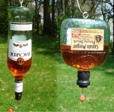 booze Rum bird feeder funny - 7542179328