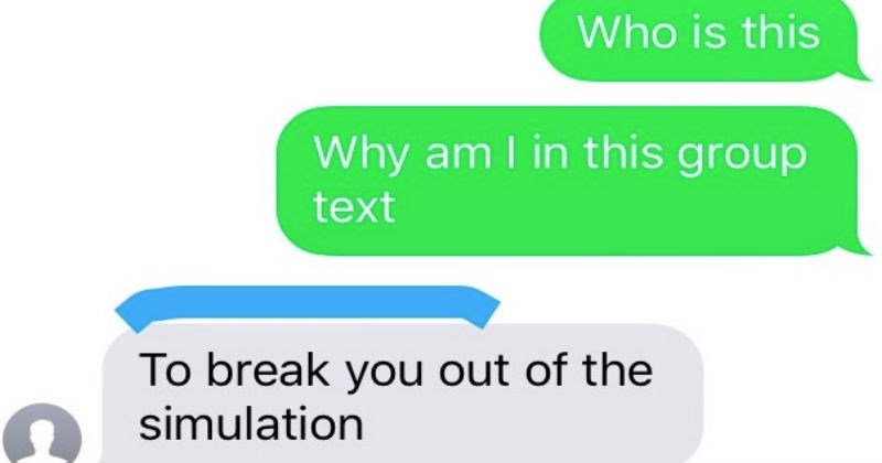 guy gets added to a group chat by unknown number