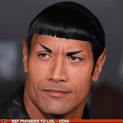 crossover wtf Spock Star Trek the rock