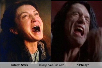 the room,johnny,totally looks like,catelyn stark,funny