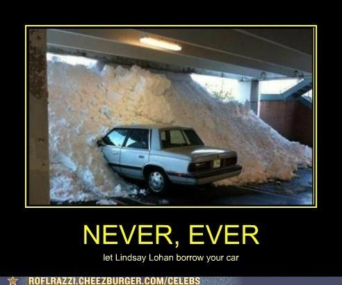 drugs snow cars lindsay lohan - 7543814656