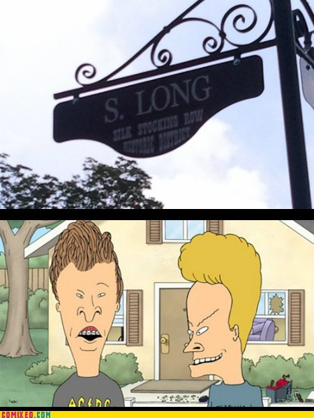 beavis and butthead,signs,puns,funny