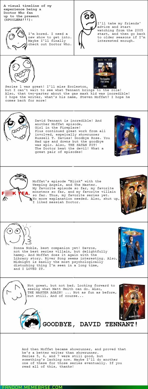 doctor who,fandom problems,Rage Comics