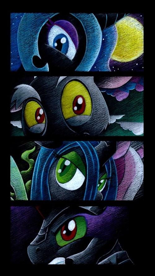 sombra nightmare moon art discord villains chrysalis - 7544387840