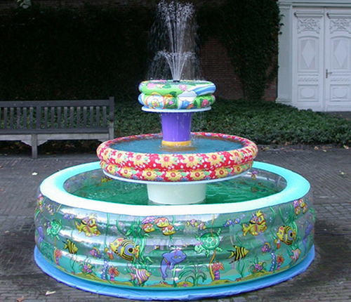 inflatable pools fountains funny