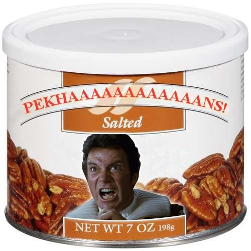 Captain Kirk wrath of khan puns pecans Star Trek William Shatner funny - 7544690176