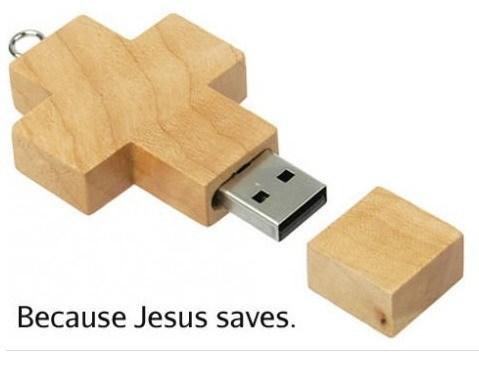 jesus saves puns usb drive funny - 7544693248
