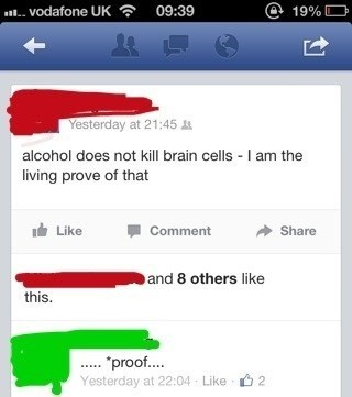 alcohol Close Enough spelling brain cells