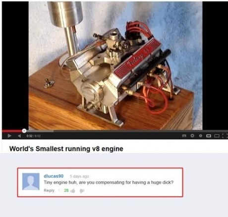 youtube,youtube comments,compensation,v8 engine,engines