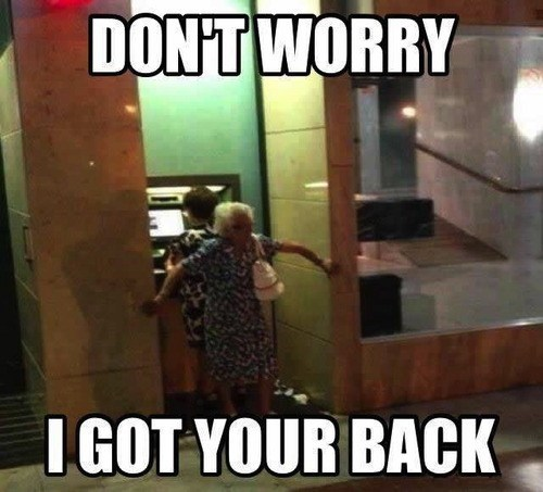 ATM IRL grandma old people - 7544957440