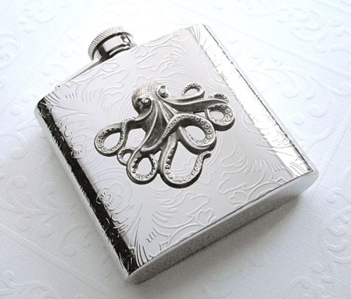 steam punk awesome octopus flask funny - 7544976128