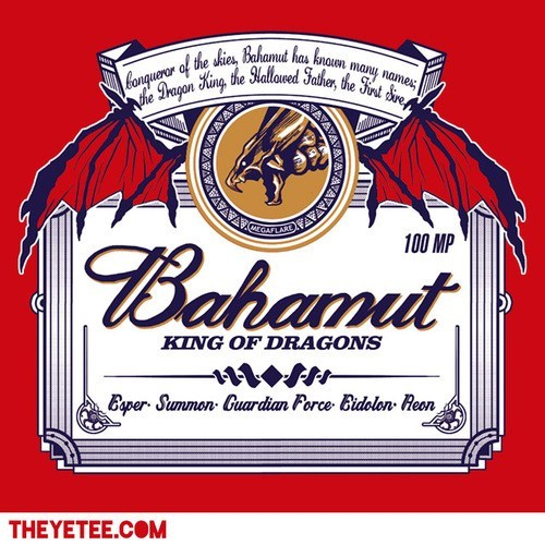 logo,bahamut,beer,final fantasy,funny