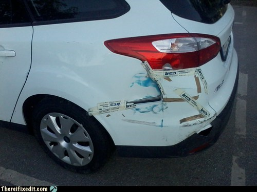 fender bender,car fixes,toothpaste,funny