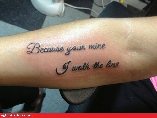 your grammar tattoos funny g rated Ugliest Tattoos