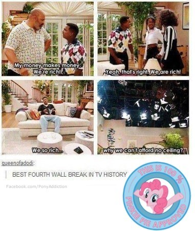 fourth wall pinkie pie Fresh Prince of Bel-Air - 7545630464