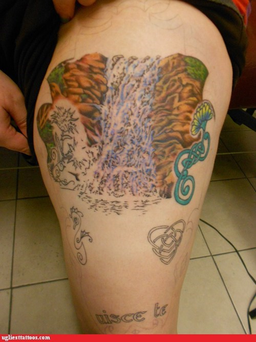 FAIL waterfalls tattoos funny - 7545701632