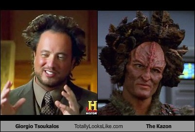Aliens the kazon Giorgio Tsoukalos totally looks like Star Trek funny