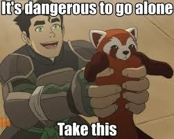 its dangerous to go alone pabu korra cartoons - 7545780224