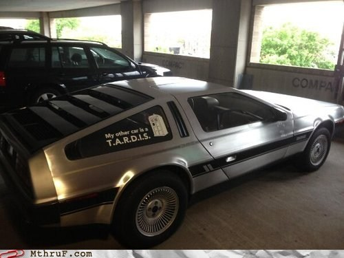 DeLorean,back to the future,tardis,monday thru friday,g rated