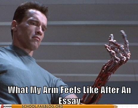 terminator essay arm funny - 7546297344