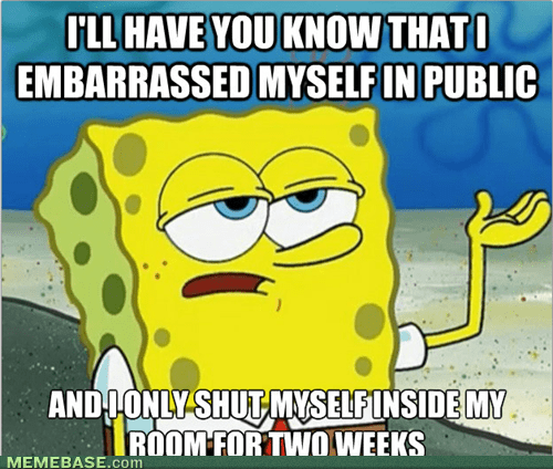 embarrassed SpongeBob SquarePants Memes - 7546545408