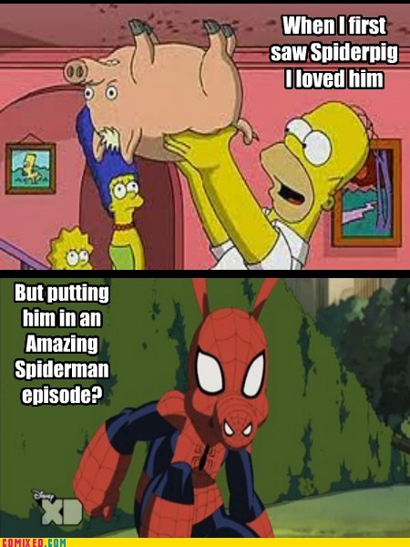 marvel simpsons spiderpig Spider-Man funny - 7546575360