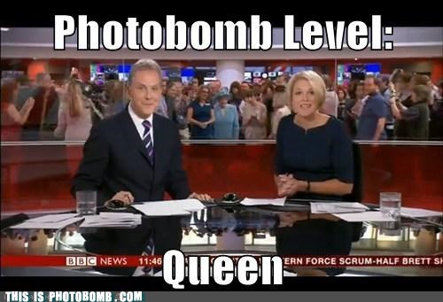 queen photobomb bbc funny