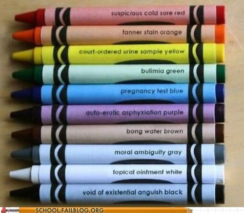 50 shades of gray crayons funny g rated School of FAIL - 7546944256