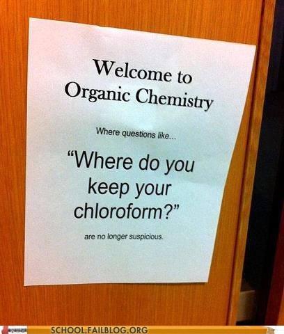organic chemistry,chloroform,funny,school