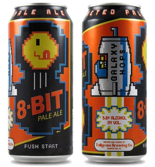 beer,beer can of the week,funny,8-bit pale ale