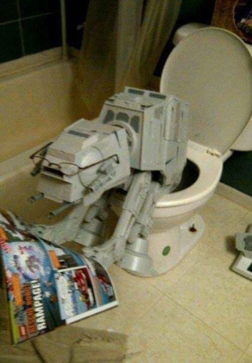 toilet humor,wtf,star wars,the glasses,funny,at at