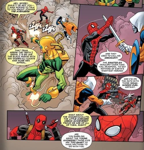Spider-Man deadpool off the page funny avengers - 7548403200