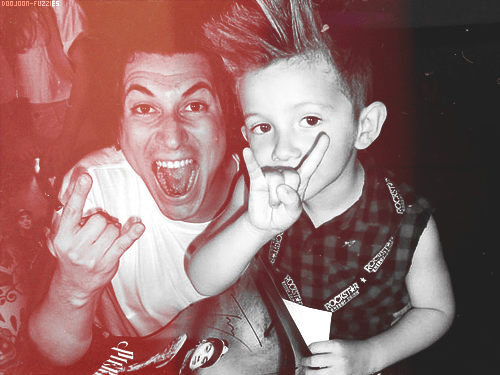 Rocker Dad and Kid