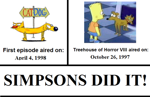 CatDog nickelodeon Simpsons Did It the simpsons - 7548535296