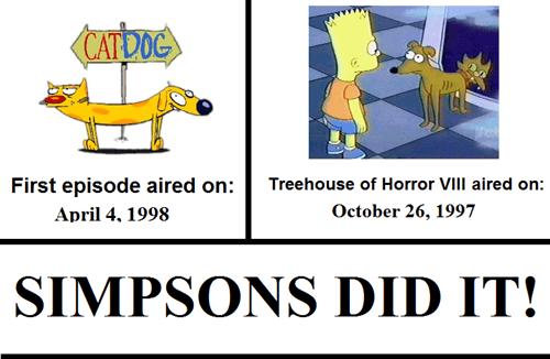 CatDog nickelodeon Simpsons Did It the simpsons - 7548535296