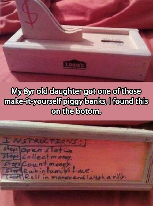 wtf kids piggy bank
