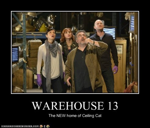 WAREHOUSE 13 The NEW home of Ceiling Cat