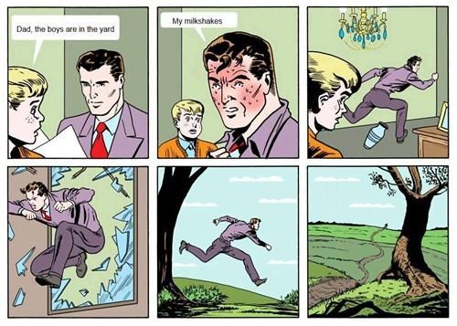 comic funny milkshake