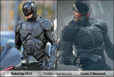 crysis,totally looks like,nanosuits,robocop,funny