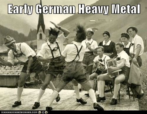 Music german lederhosen heavy metal funny - 7550016768