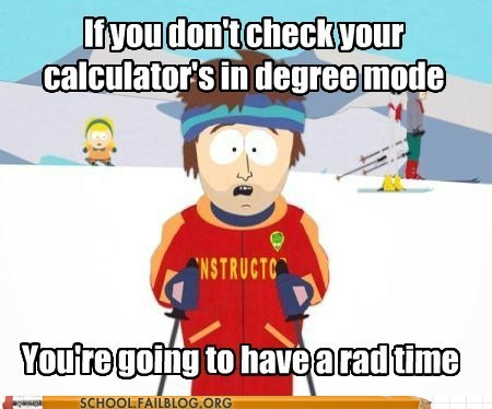 degree calculator funny rad