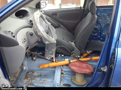 cars interiors funny drivers-seat no seats