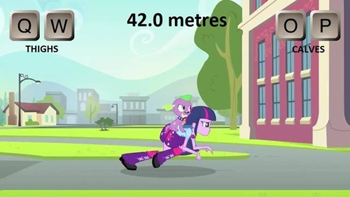 spike,equestria girls,twilight sparkle,QWOP