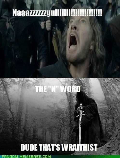 Lord of the Rings,n word,puns,funny