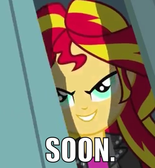 SOON creepy sunset shimmer