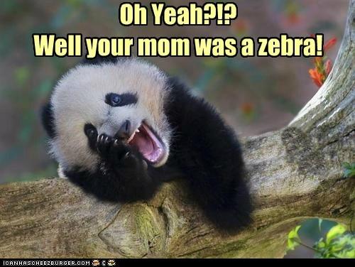 zebra panda insult funny - 7553432832