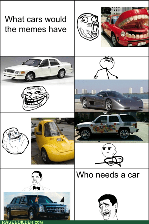 forever alone,trollface,cars,not bad,lol guy