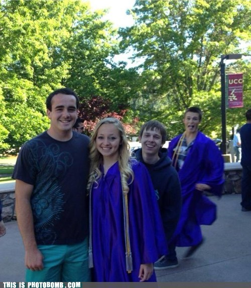 photobomb,graduation,funny