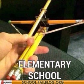 elementary school,crossbow,funny